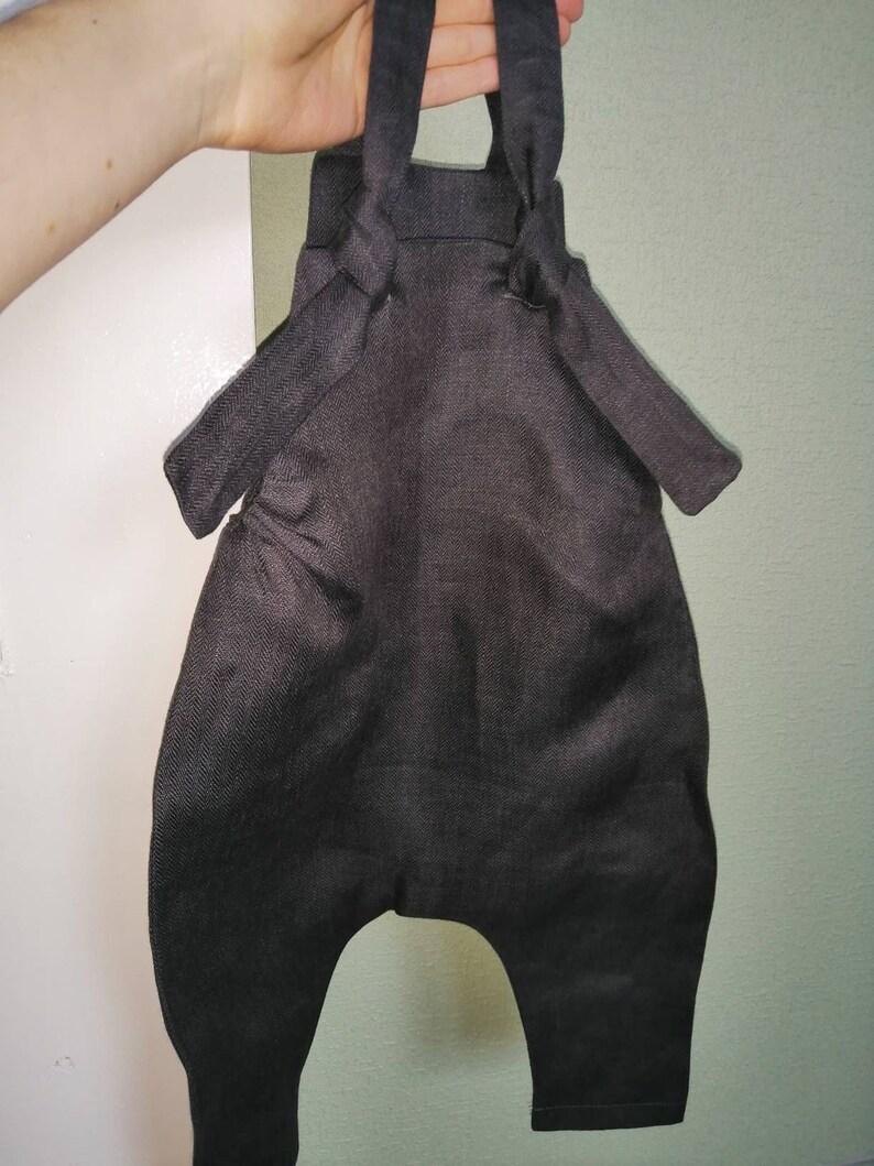 Charcoal Grey Linen Baby Bonnet Linen Baby Sunhat Linen Baby Sun Bonnet Linen Baby Clothes Linen Summer Bonnet For Newborn