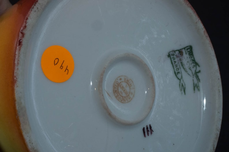 1900 c Pickard pitcher and mustard dish artist signed.