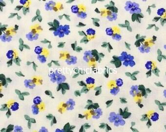 18/'/' 12 Yard Polyanthus Shapphire Primrose Laura Ashley Furnishing Cotton Fabric