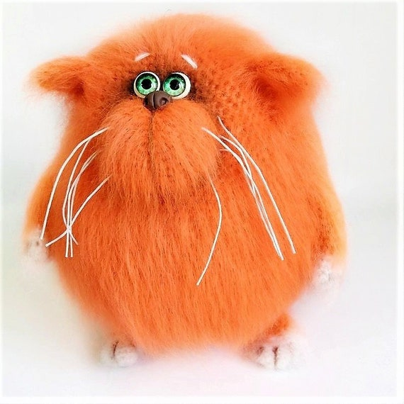 Cat Hairy Soft Sculpture As Funny Stuffies For Mom From Etsy