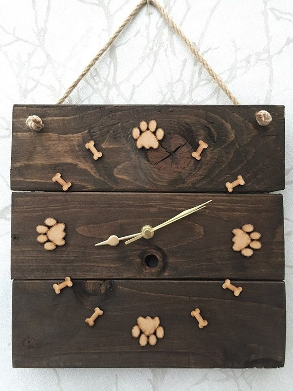 Gone Walkies with Dog paw print and bone wooden sign Home, Furniture & DIY Home Decor