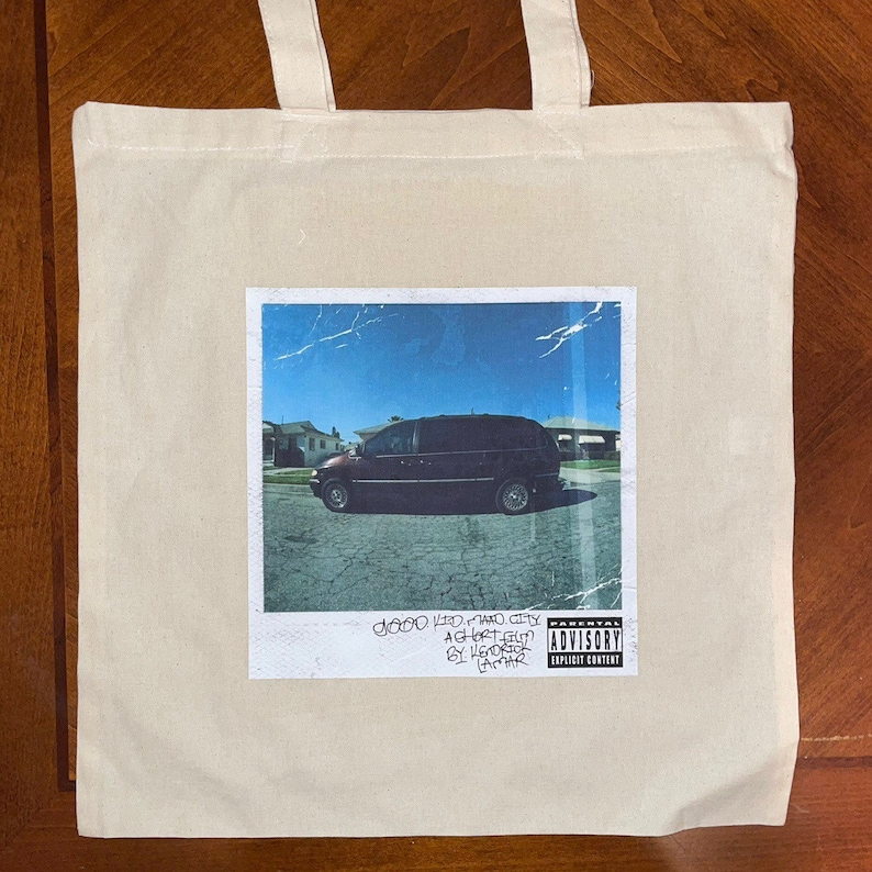 Good Kid Maad City Tote Bag Rapper merch music bag Kendrick Lamar