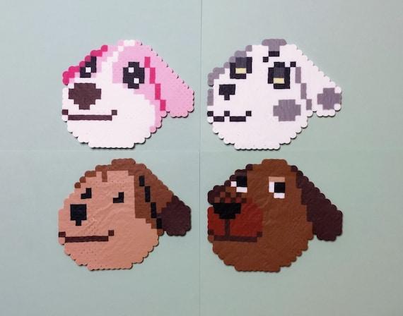Animal Crossing Dog Villagers Perler Bead Etsy