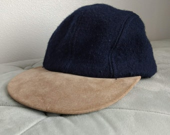 3ccdb612b2f21 Vintage wool and suede Eddie Bauer baseball cap