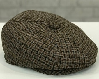 472357a4a8180 Classic Tweed Patterned Wool Blend Newsboy Cap Mens