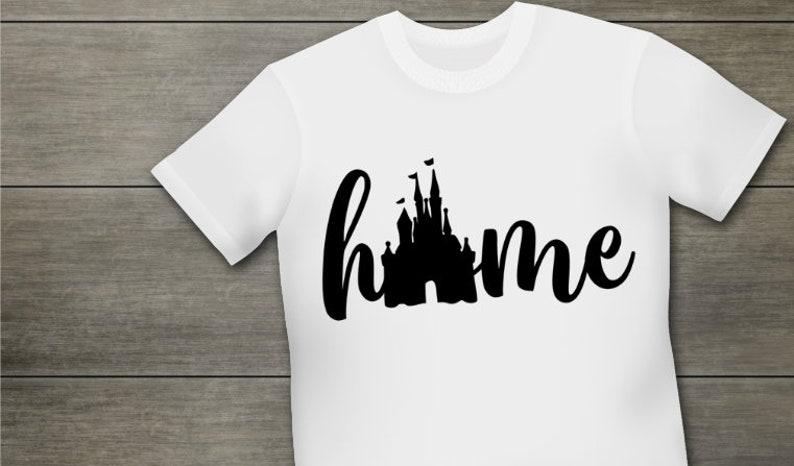 Kids Shirt Disney Castle Home