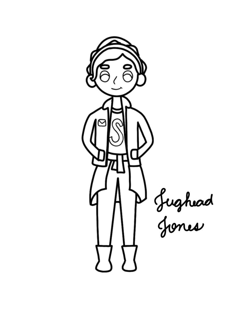 Riverdale Jughead Coloring Pages Coloring Pages