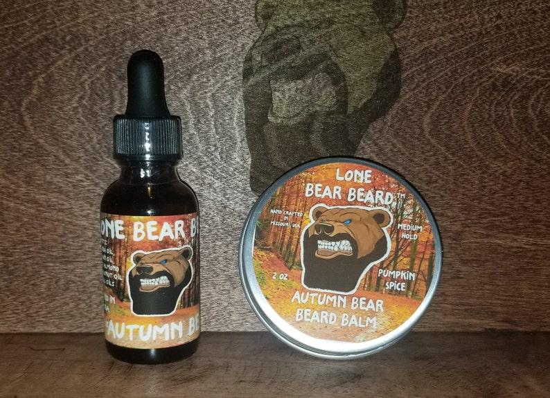 Autumn Bear Beard Balm and Oil Kit/Beard Balm/Beard Care/Beard image 0