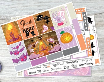"""A Small Haunting Mini Planner Weekly Sticker Set. Perfect for 7"""" x 9"""" vertical layout planner size."""