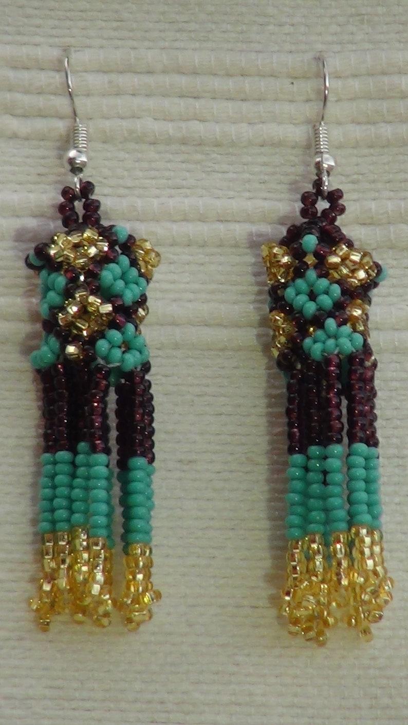 Earrings  Maya Native  Tribal  Chaquiras  Chaquira Necklace Handmade Statement Beaded Jewelry Set  Necklace Bracelet