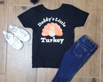 189639d6b Daddy's/Mommy's Little Turkey Shirt/ Thanksgiving Shirt/ Daughter Shirt/  Son Shirt