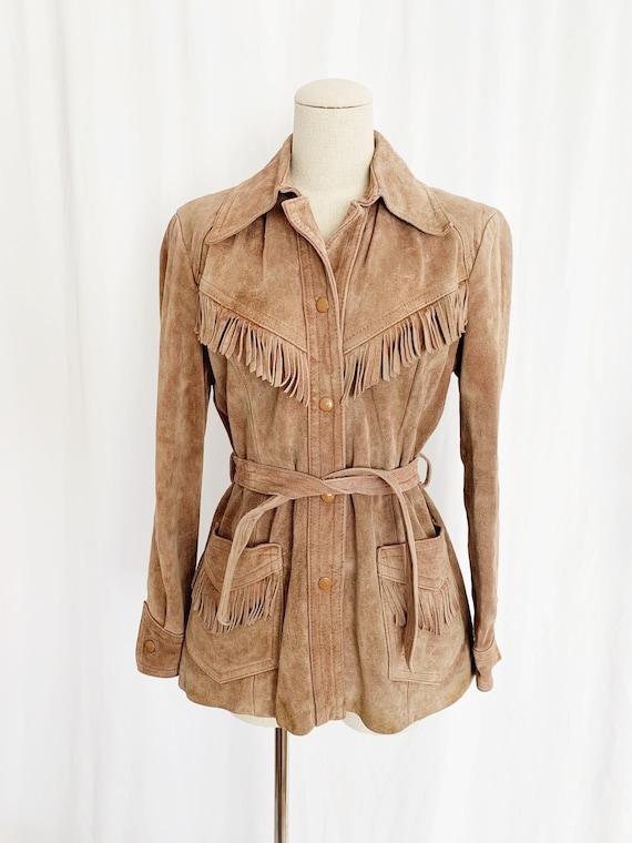 1970's S/M Fringe Suede Jacket