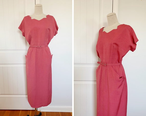 1940s Small Geometric Party Dress