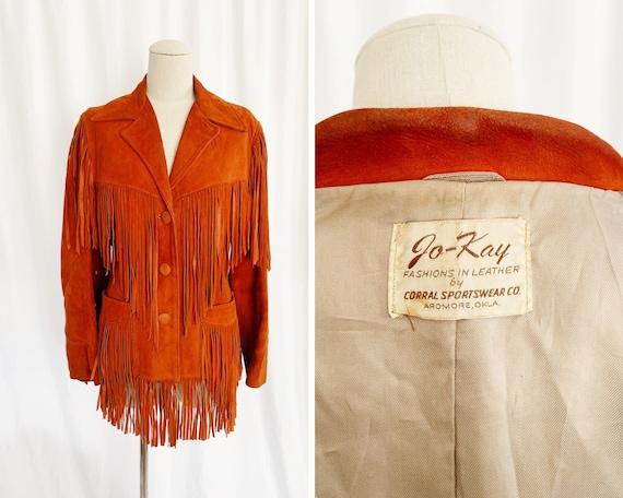 1950s S/M Jo-Kay Suede Fringe Jacket