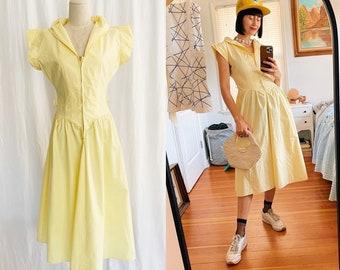 1940's XS/S Zip Front Dress