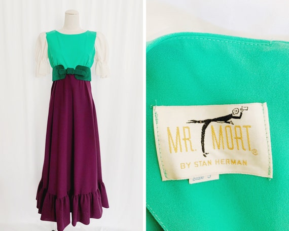 1960s XS Mr. Mort Belted Maxi Dress