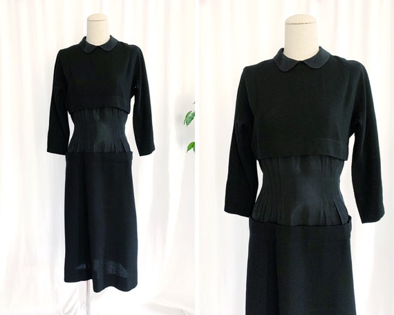 1940's XS/S Cinched Waist LBD