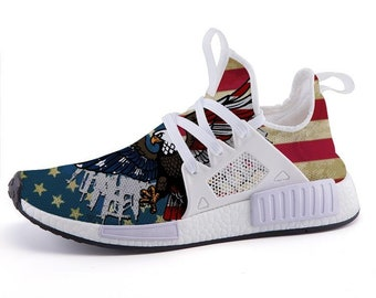 29b1c0f1bb Freedom Inspired 2nd Amendment Eagle Us Flag Inspired Sport Sneakers