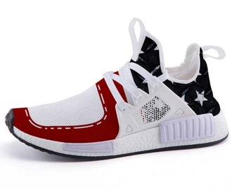 6248d64f5429d Ultra Merica Freedom Patriotic Nomad Shoes NMD S Custom Adidas Inspired
