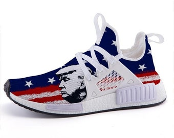 2019 trump side view us flag sport sneakers nmds custom adidas inspired 4617b1178b