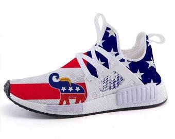 online store 44eb6 2b6c9 2019 trump elephant symbols us flag sport sneakers nmds custom adidas  inspired