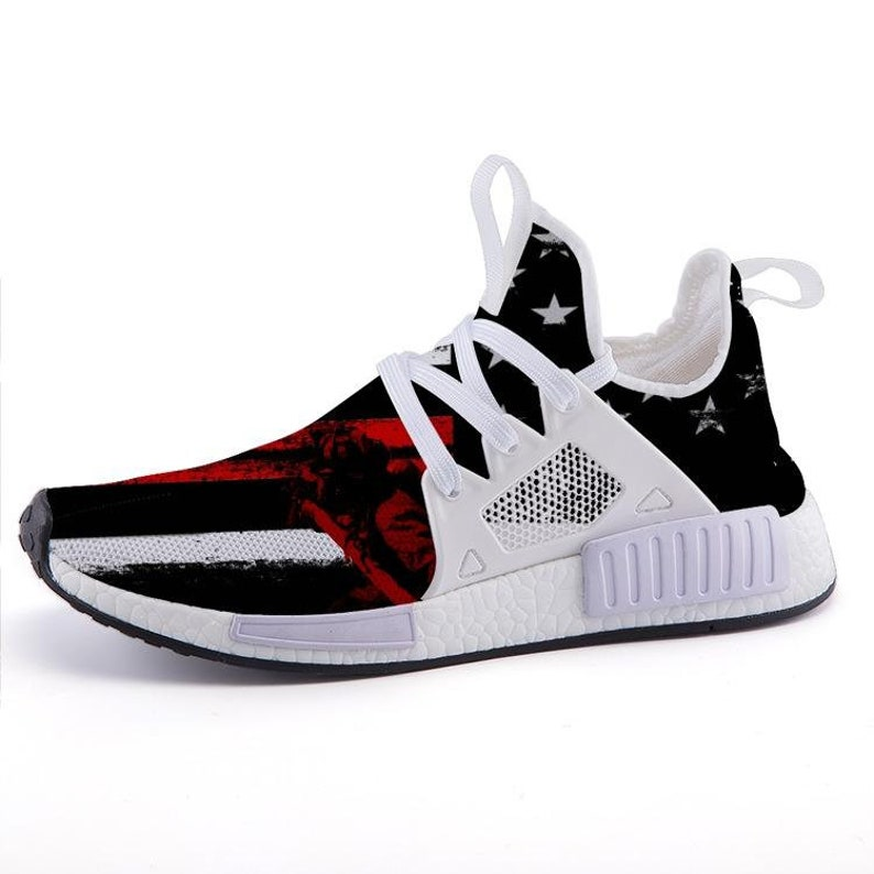 buy online 584c7 5657d NMDs Custom Red Line Firefighter Sports Sneakers NMD Running   Etsy