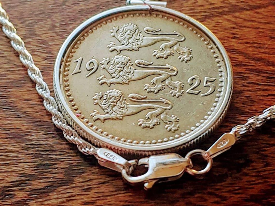 Rare Historical 1925 Estonian Republic Triple Lion Coin image 0