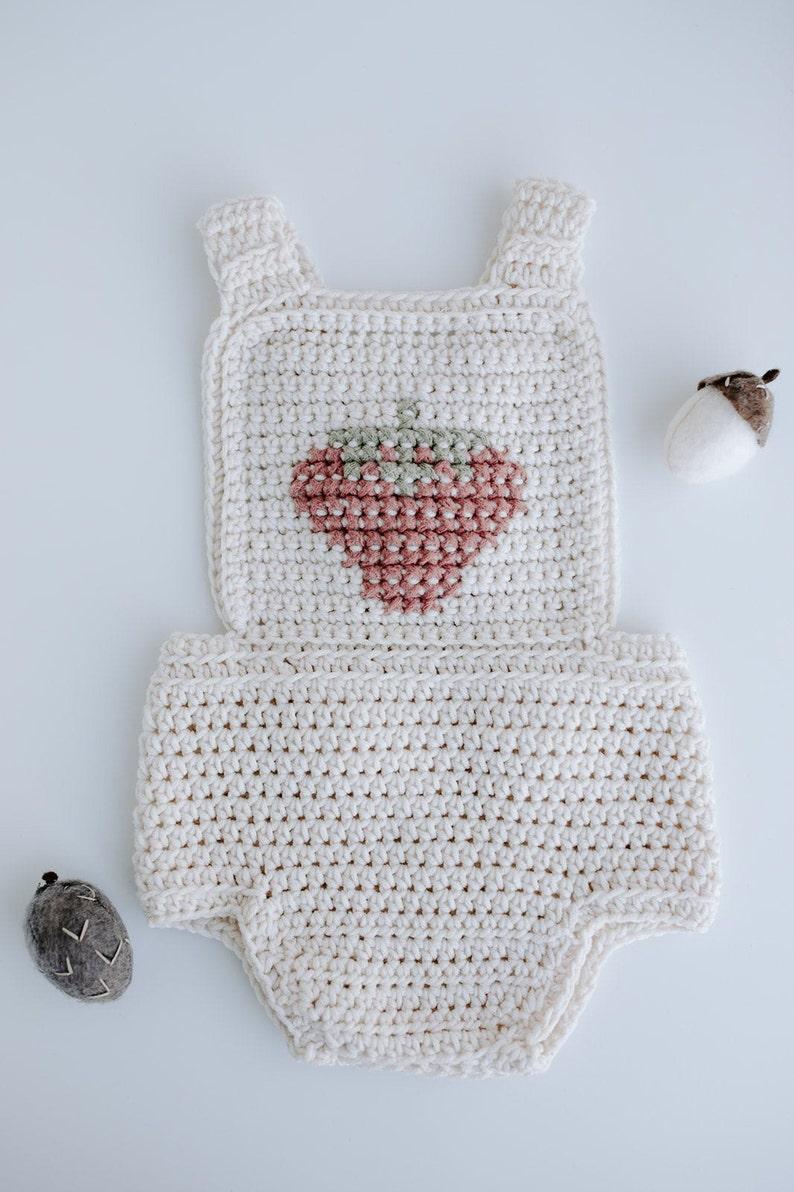 Baby Knit Romper Strawberry Romper Knit Romper