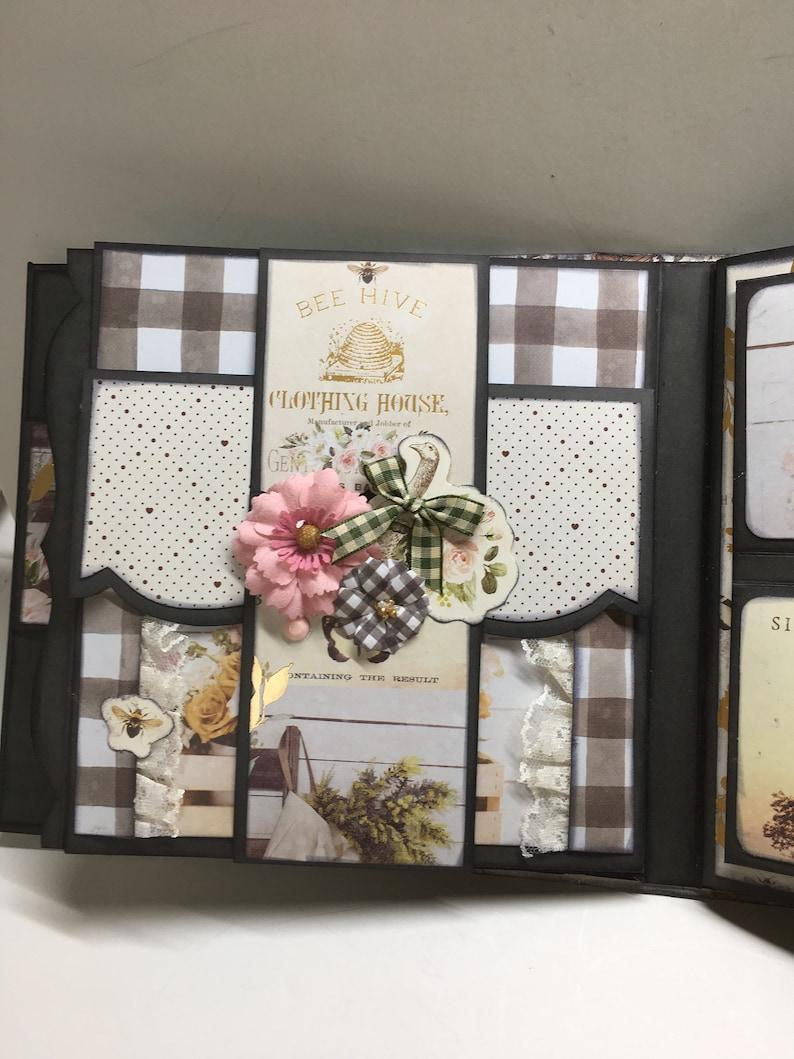Spring   Country farmhouse scrapbook album free shipping