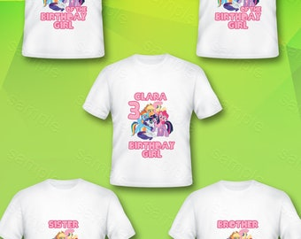 4bff8e085f4 My Little Pony Family Iron On Transfer