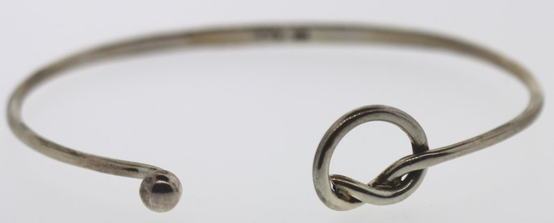 0.925 Silver Bangle with cross-over twist Artisan-style Sterling