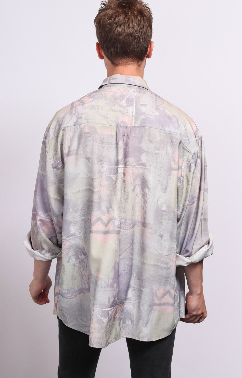 Vintage Abstract Patterned Shirt