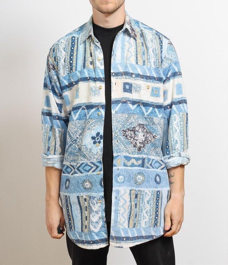 Mens Vintage Aztec Navajo Shirt