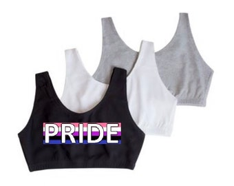 Bi Pride Flag Sports Bra Distressed Bisexual Pride Sports Bra Pink Purple Blue Bisexual Sport Girls Who Love Girls And Boys Sports Bra