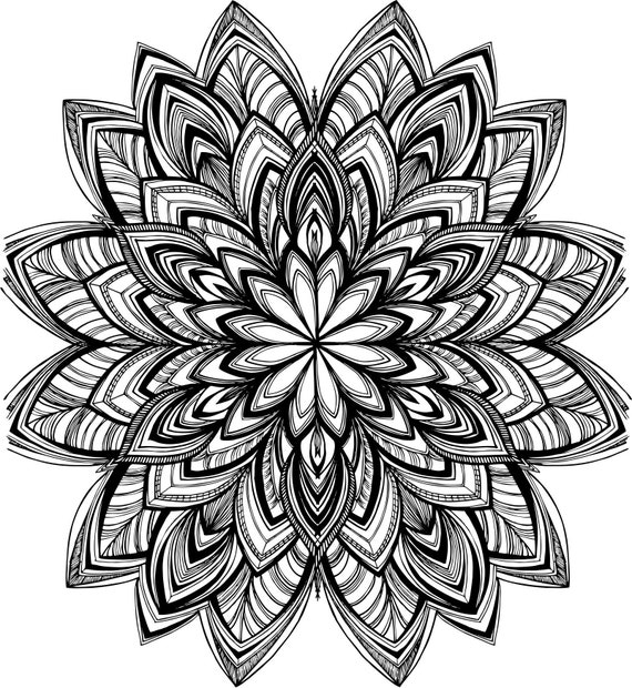 Geometric Mandala Art Design For Easy Print And Download 01
