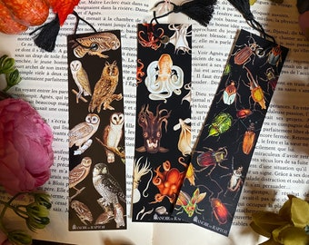 Bookmark Bat. Fabric bookmark, ecological and washable. Witchcraft, medieval pagan, goth, magic, dark