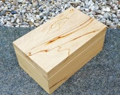 Handmade wooden box spalted beech with hinged lid
