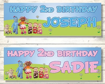 Personalised In The Night Garden Birthday Stickers Party Thank You Cake 424