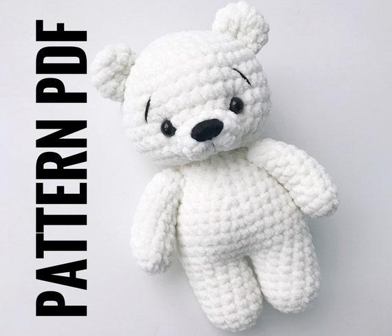 Free Polar Bear Crochet Amigurumi Pattern - Little Bear Crochets | 489x570