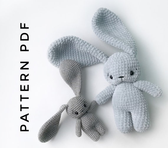 PDF Pattern Crochet Toy Cute Bunny Long Ears Amigurumi Pattern ... | 502x570