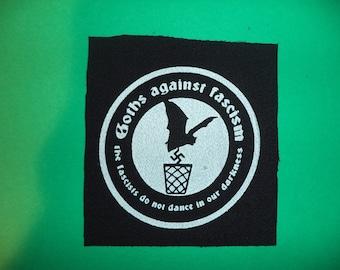 goths against fascism-punk patches-punk bands-punk accessories-antifa patches-anarcho punk patches-anarchy patches-punk clothing-punk rock