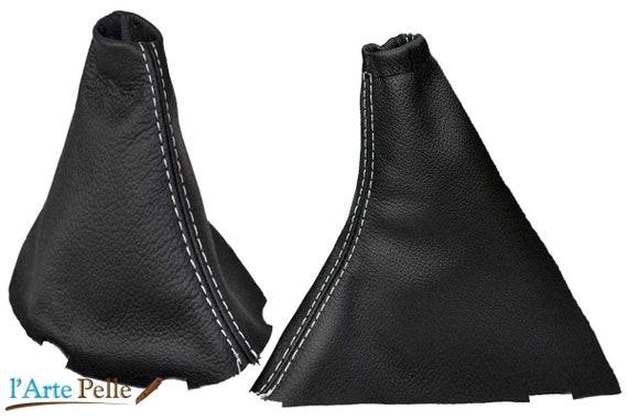 Cuffia leva cambio Peugeot 407 vera pelle nera