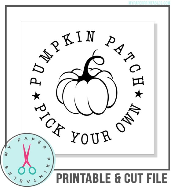 Pumpkin Patch Pick Your Own Svg Png Cut File Set Can Be Used Etsy