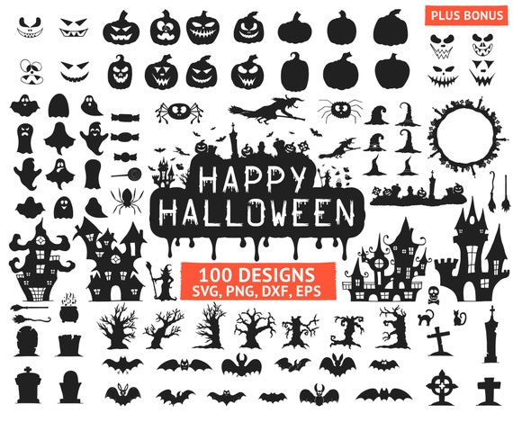 Halloween Svg Happy Halloween Quotes Svg Silhouette Cutting Etsy