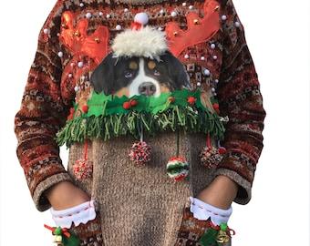 TOBY - Woman - T L - Ugly christmas sweater - Unique piece