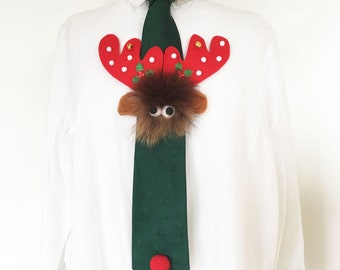 ROBB - Christmas tie - Unique piece decorated by hand