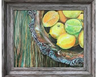 Citruses in Brass Bowl