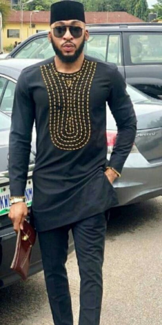 African Men/'s Clothing dashiki shirt Top and pants. African men/'s shirt African attire dashiki,wedding suite