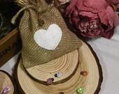 10pcs lot quot Love In Heart quot Burlap Favor Bags Wedding Favor Bags Gift Bags