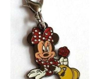 Vintage Disney World Charm Lot Disneyana Mickey Mouse Resort zipper pulls purse